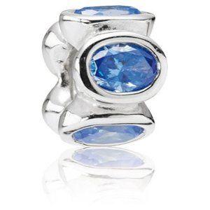 RETIRED! Pandora Blue Oval Lights Charm 790311CZB